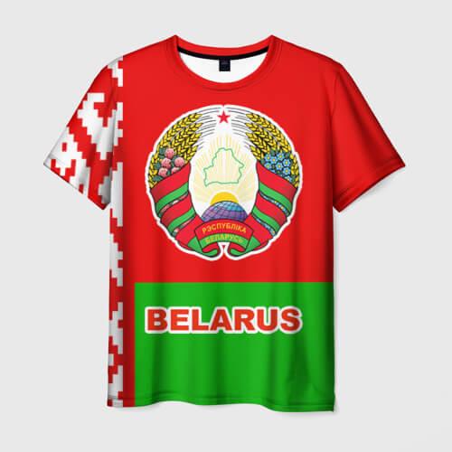 Майка с надписью Беларусь